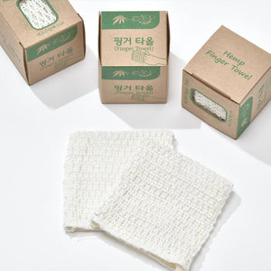 Sambe(Korean Hemp Fibre) Reusable Facial Finger Towel Set
