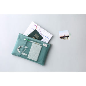 Mesh Pocket Daily Pouch in Mint Green