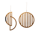 Brass Christmas Ornaments in Moon Shapes(Set of 2)