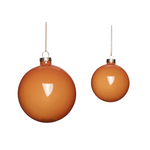 Amber Glass Christmas Bauble (set of 2)