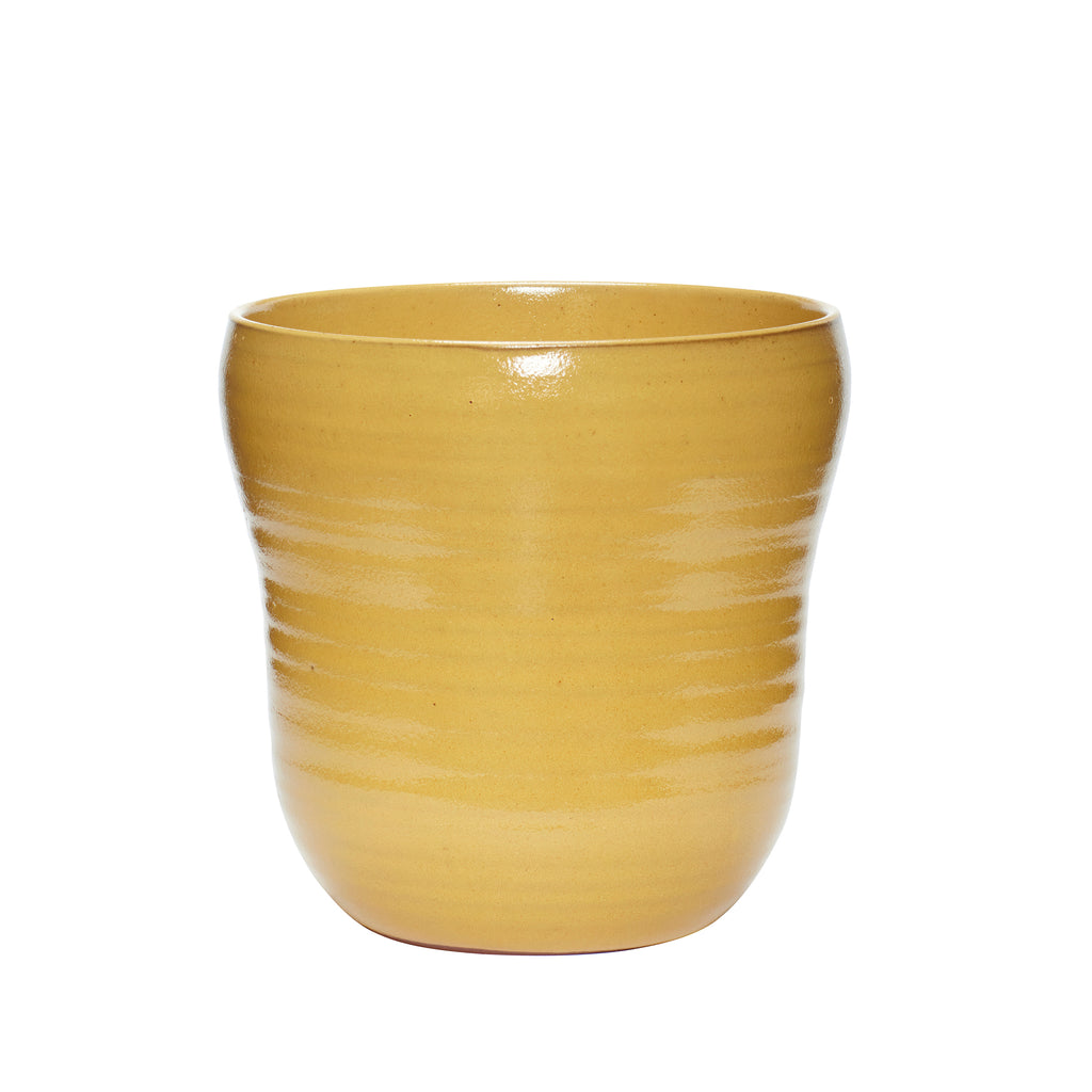 Yellow Ceramic Pot in Large