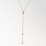 Twin Tie Lariat Necklace