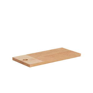Square Oak Cutting Board with Lines