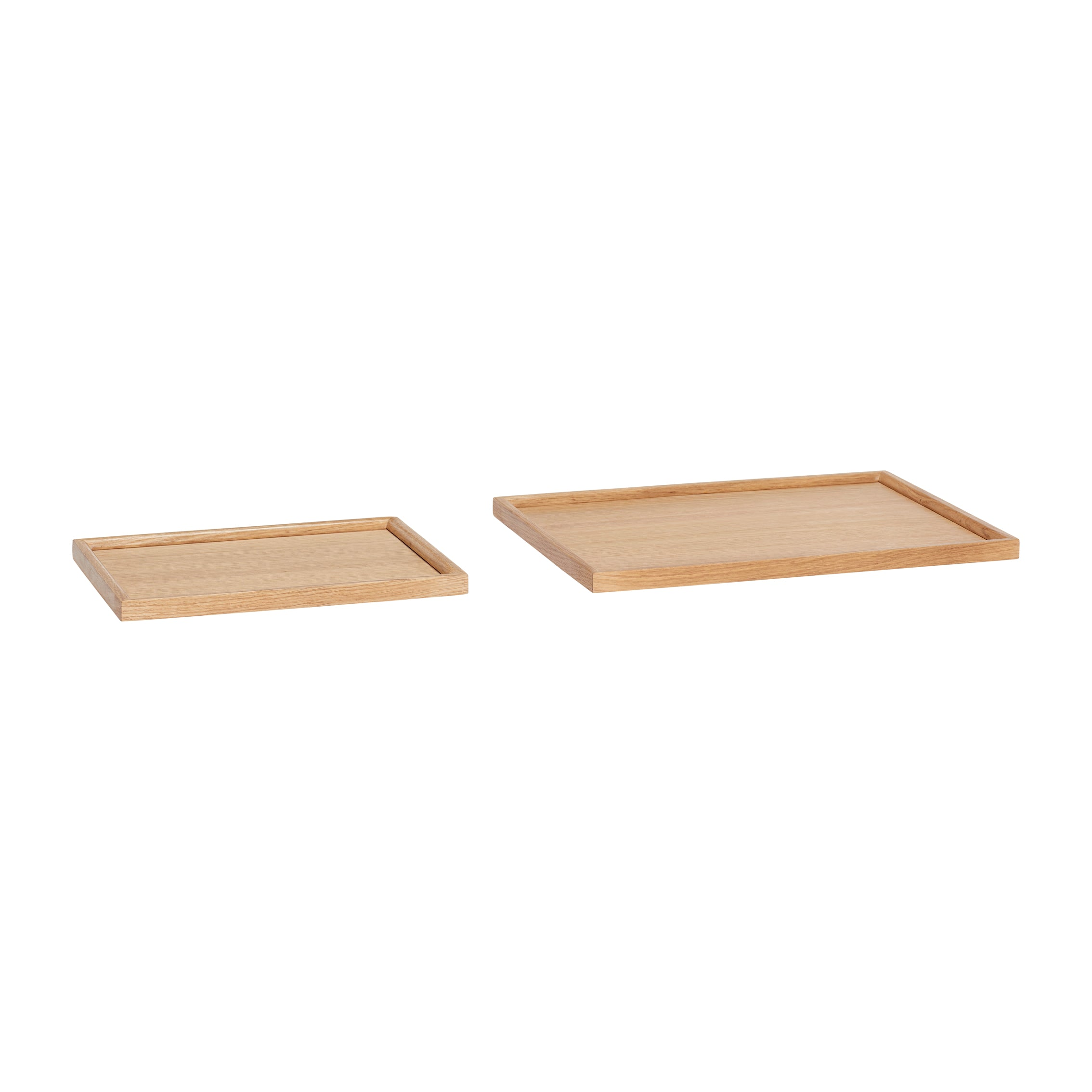 Square Serving Tray Made of Oak Wood Large Size