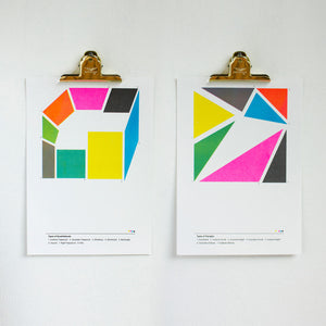 Types of Quadrangles Poster Unframed