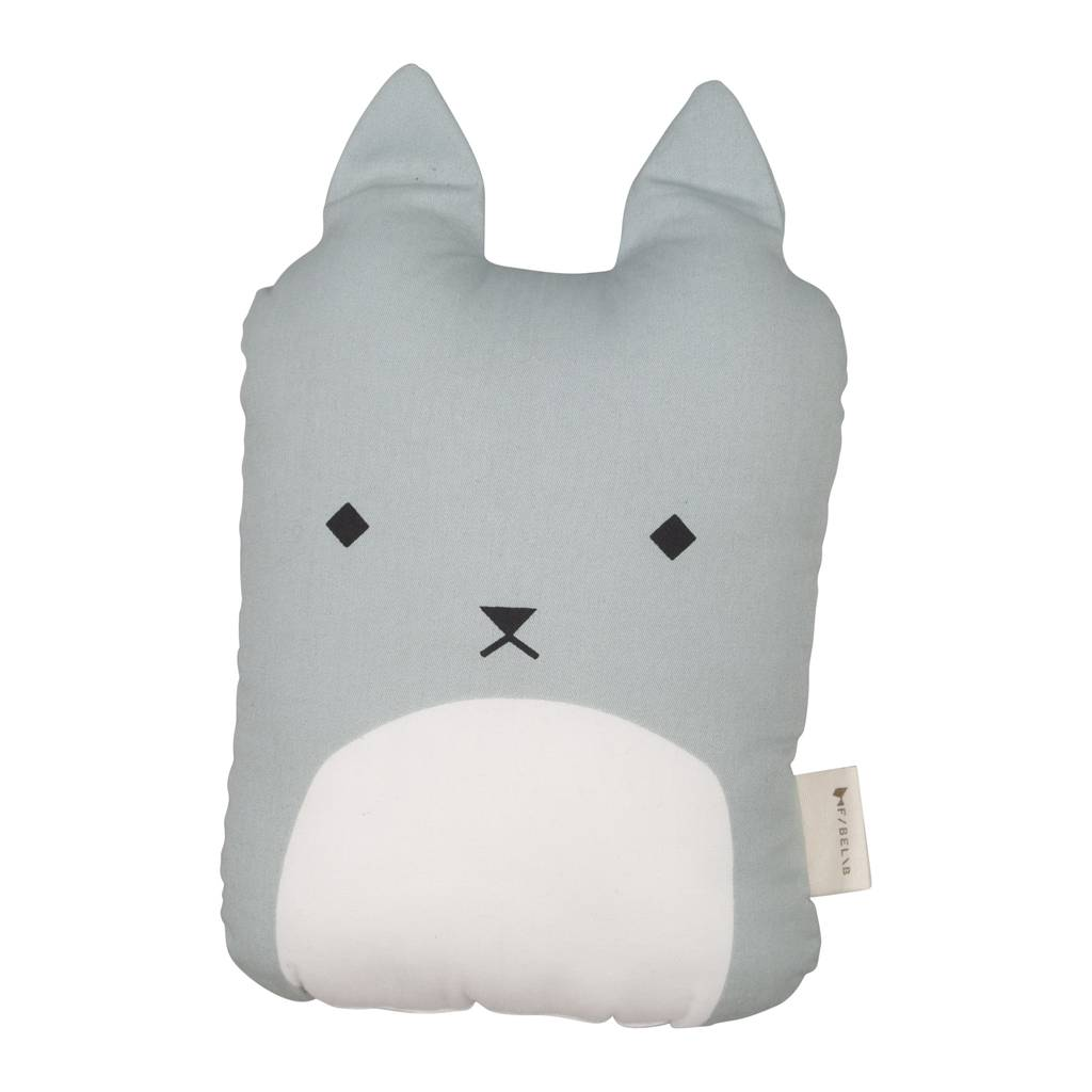 Children's Animal Cushion Foggy Blue Cat