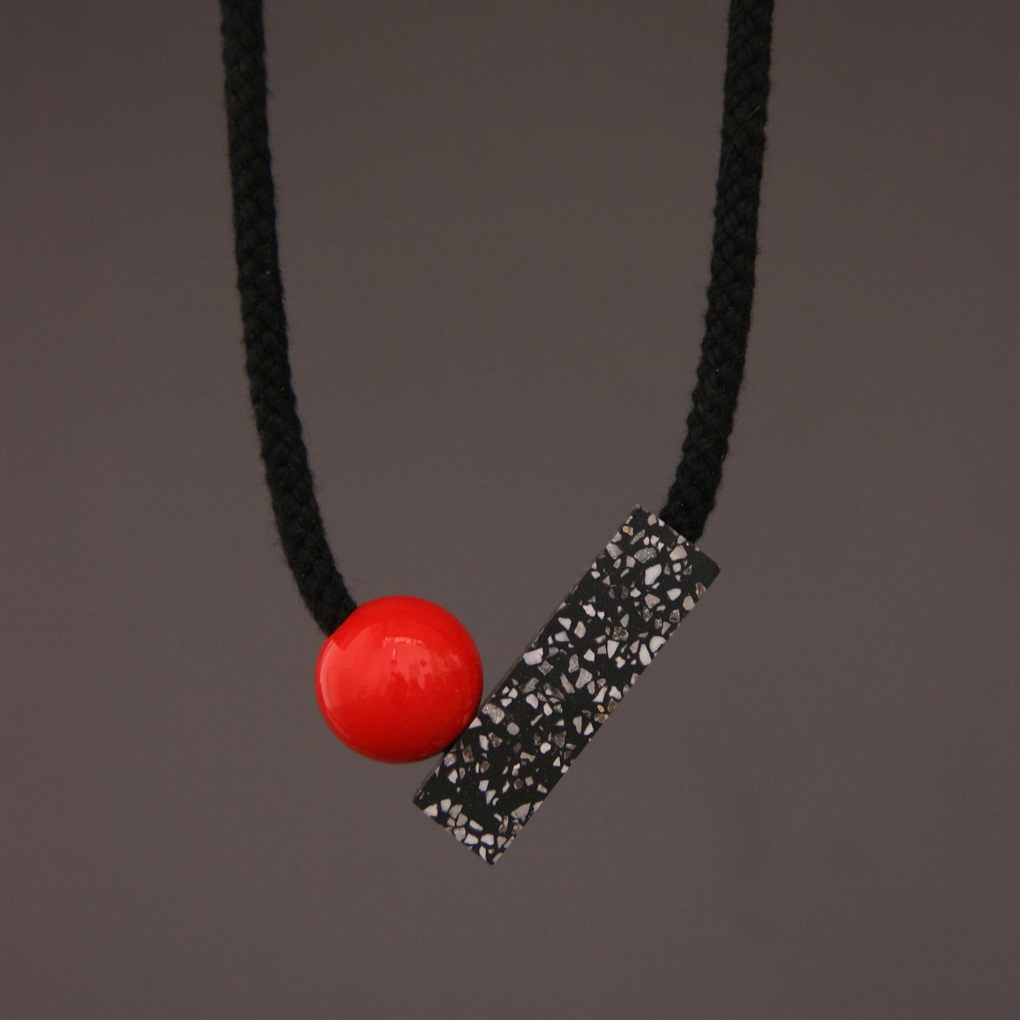 Ad Necklace with Red Ball