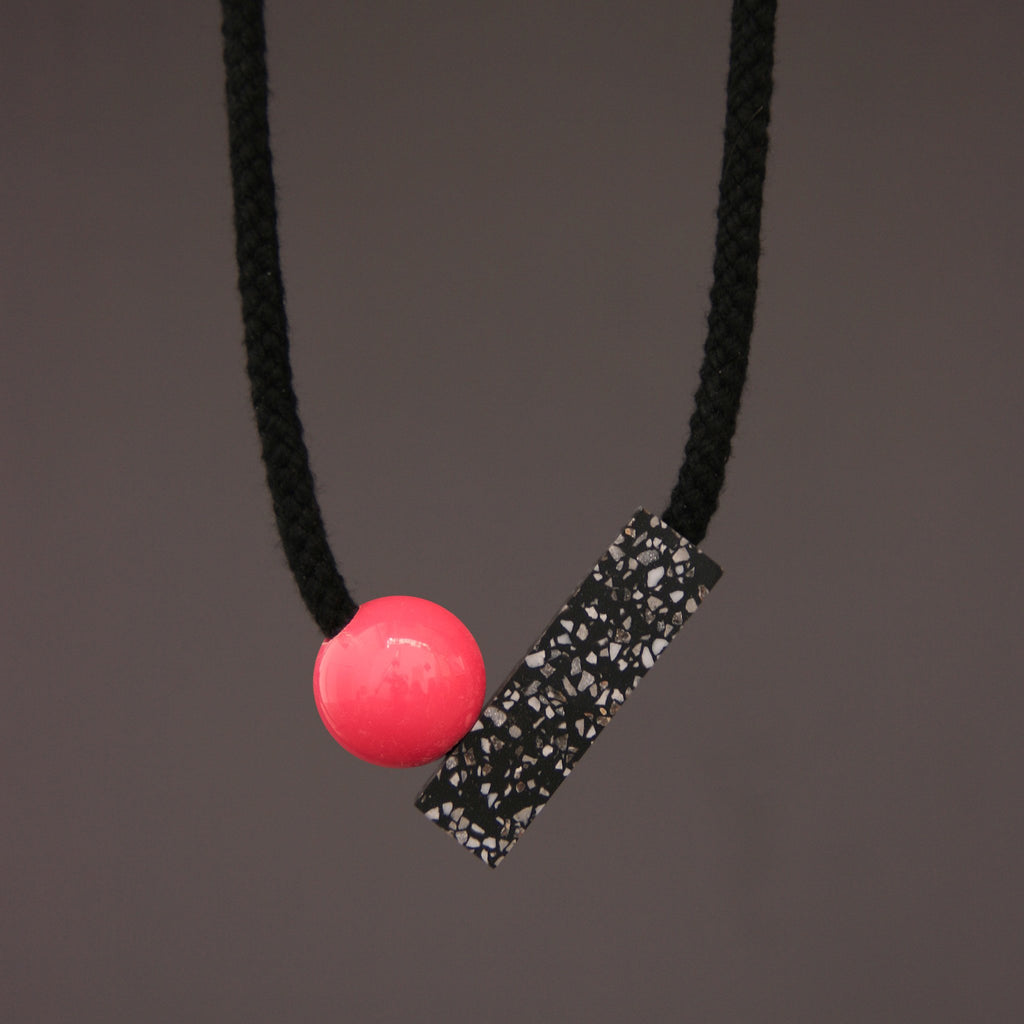 Ad Necklace with Pink Ball