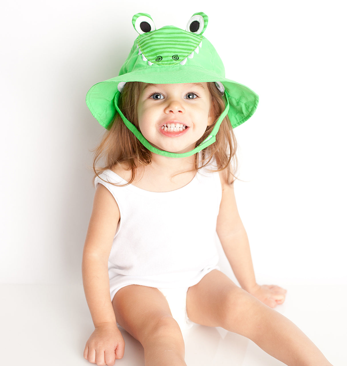 UPF50+ Alligator Baby Sun Hat
