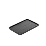 Black Rectangular Wooden Tray