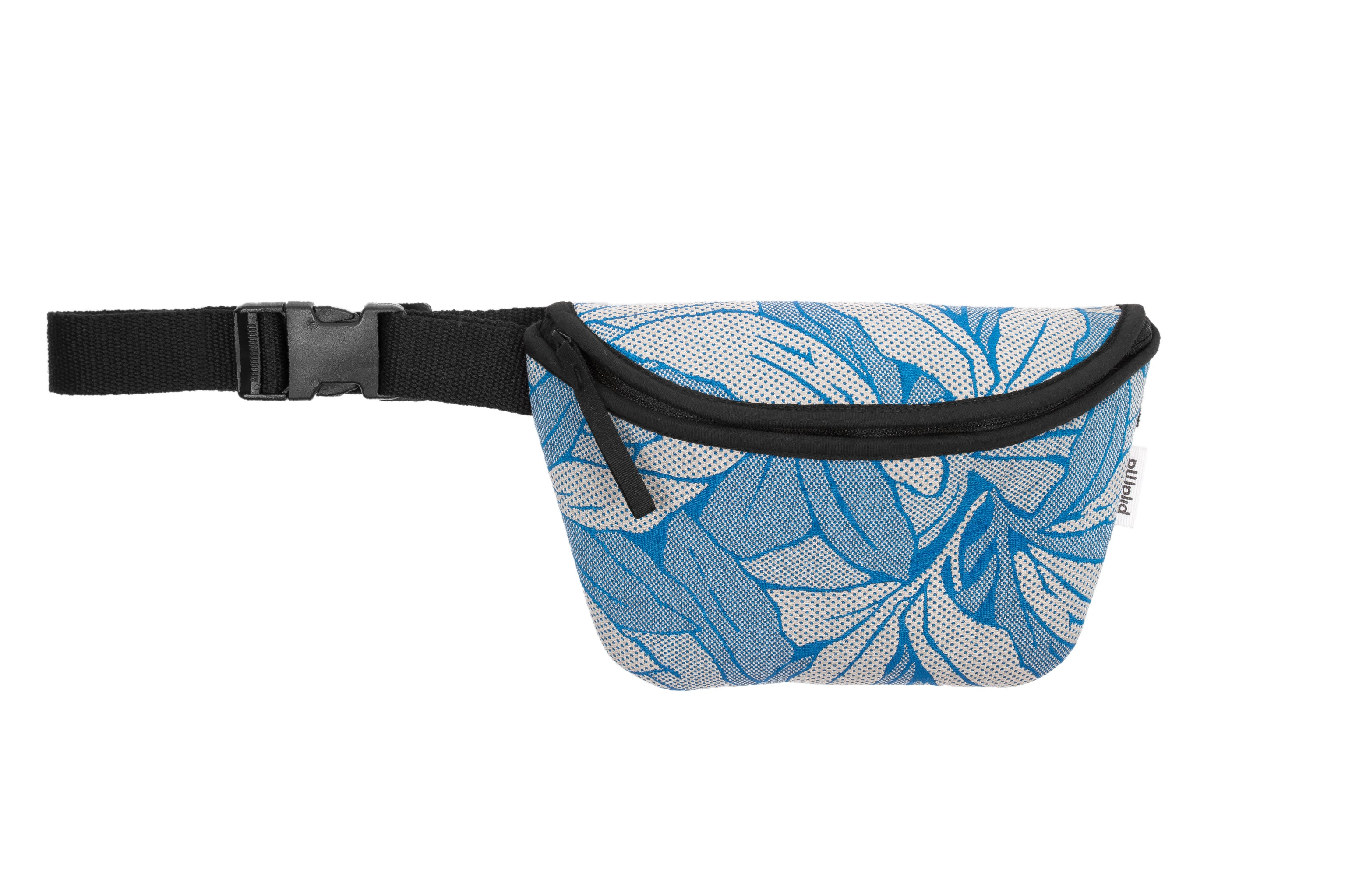 Bum Bag/Chest Bag with Adjustable Strap in Blue Flower Print