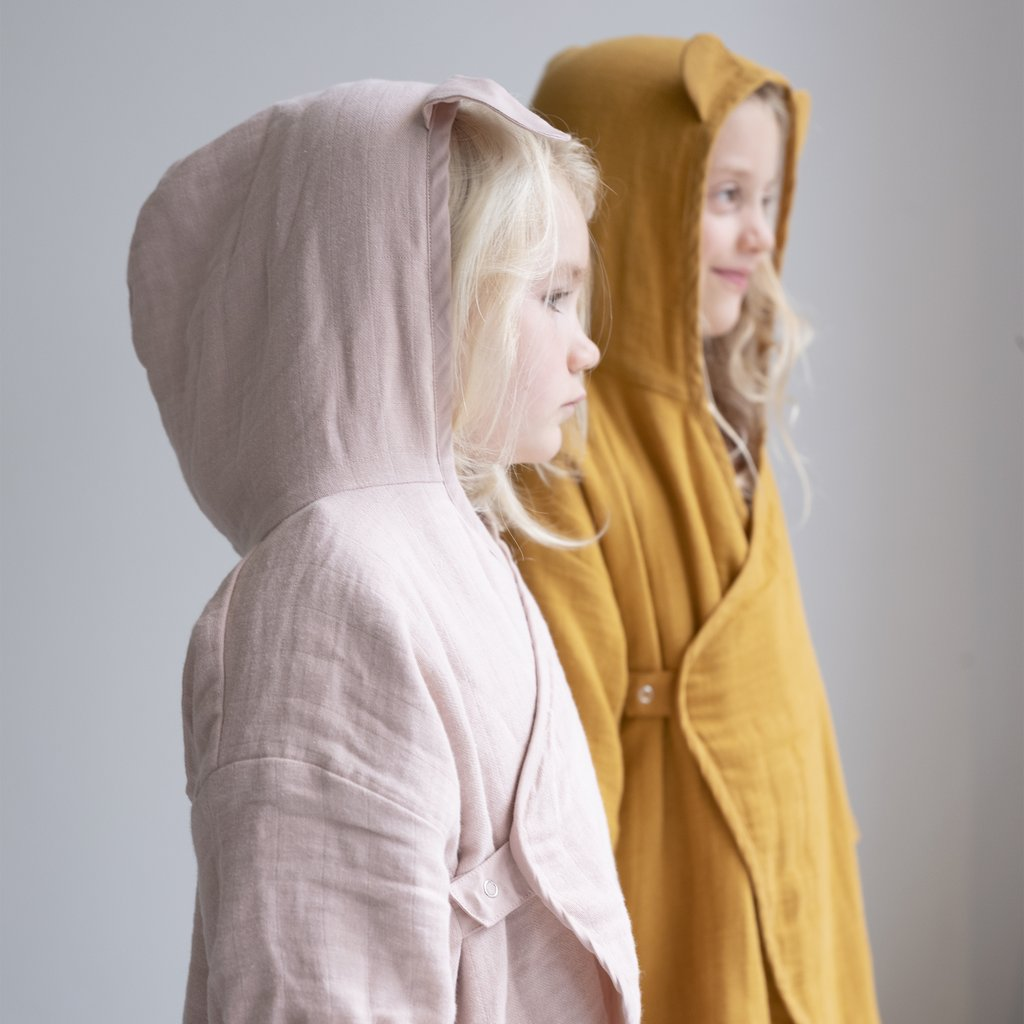 Children Bathrobe in Ochre (3 ~ 7 years Old)