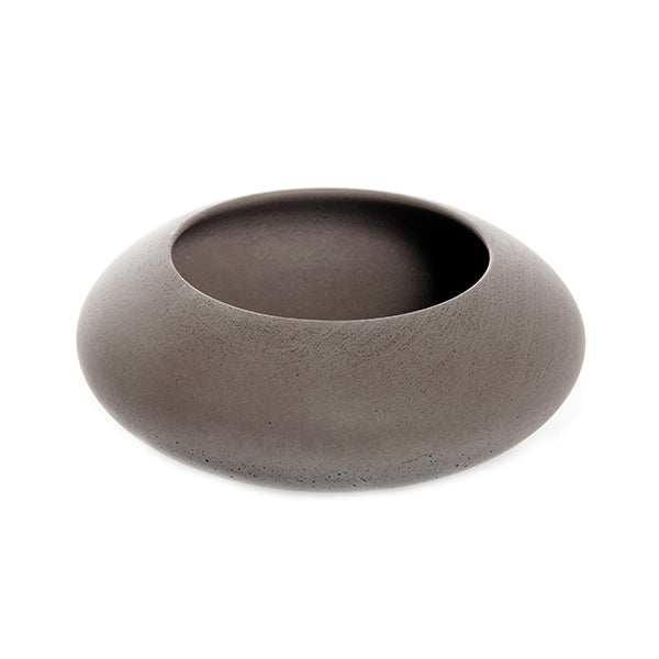 Big Bowl Made of Soft Concrete in Brown