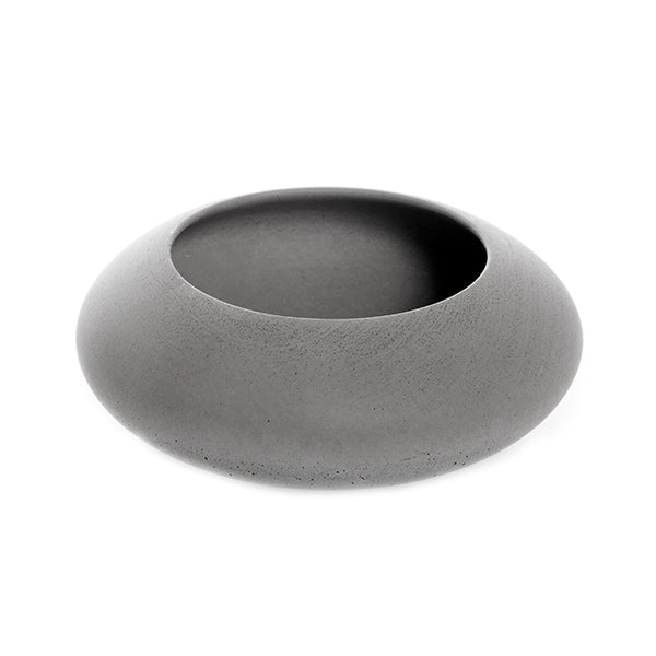 Big Bowl Made of Soft Concrete in Grey