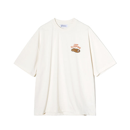 Chubby Camp Sleeping Tee in Ivory