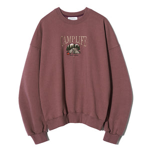 Chubby Camp Life Sweatshirt in Brick Pink