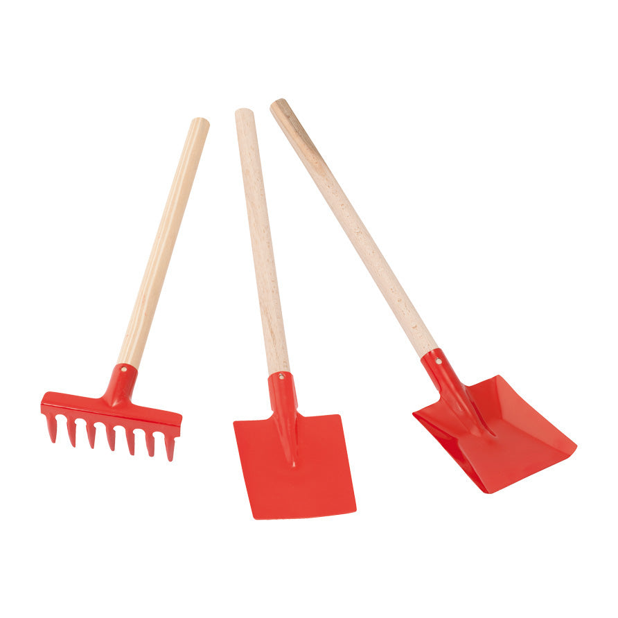 Children's Gardening Tool Set Red