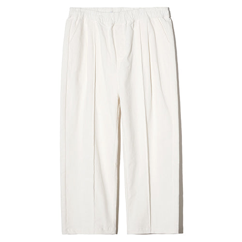 Corduroy Wide Semi Tapered Pants in Ivory