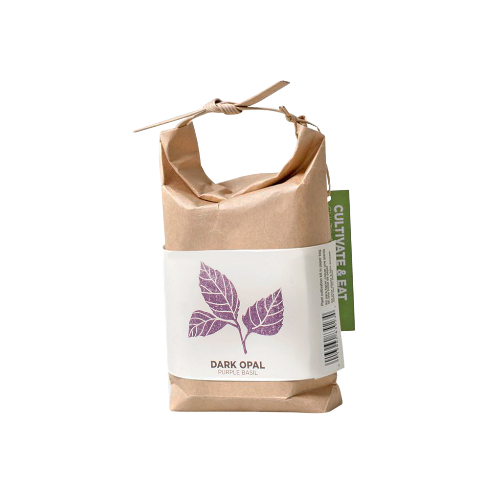 Grow Your Own Basil in Japanese Paper Bag - Dark Opal Basil