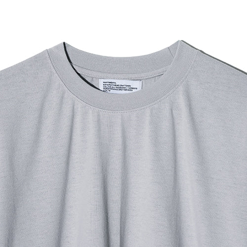 Draw String Tee in Aqua Grey