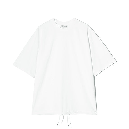 Draw String Tee in White