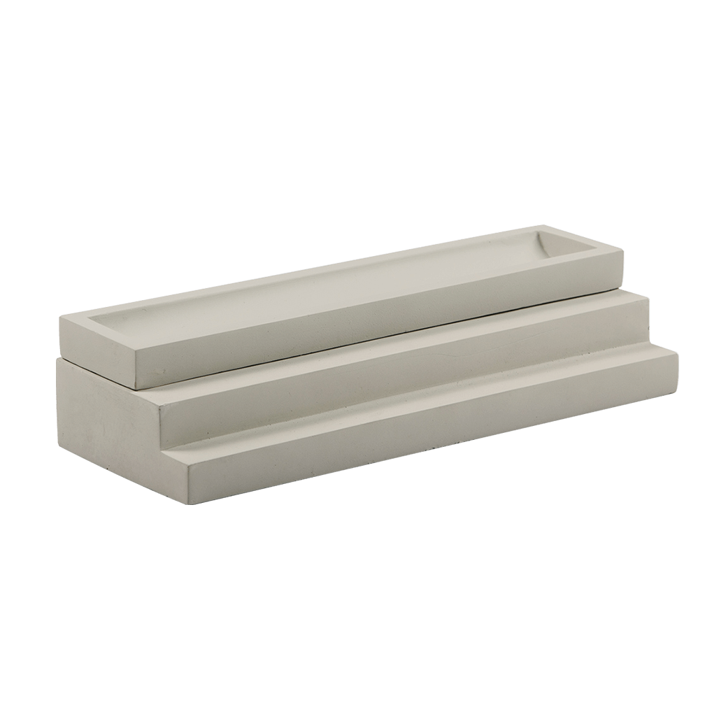 Concrete Pen Tray with Lid