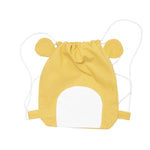 Honey Yellow Lazy Bear Drawstring Bag