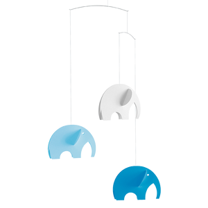 Elephant Mobile in Pastel Blue