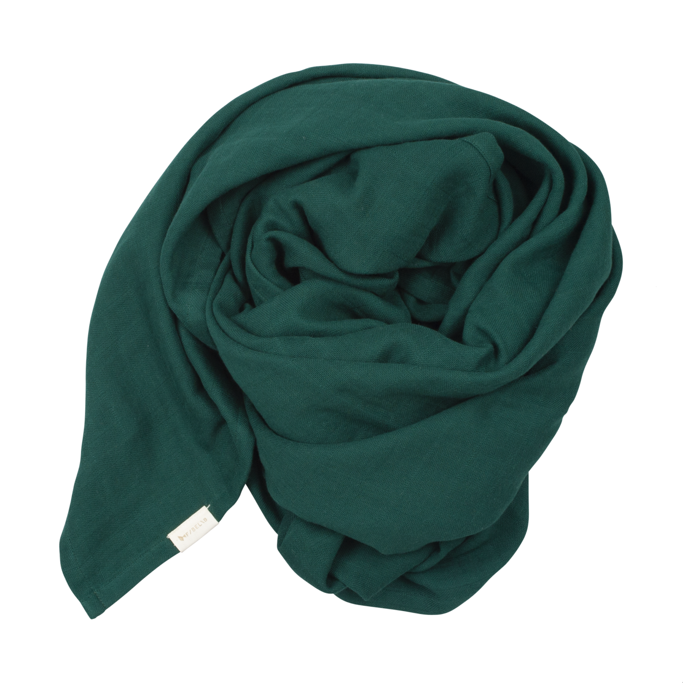 Organic Cotton Swaddle in Ever Green (120 x 120cm)
