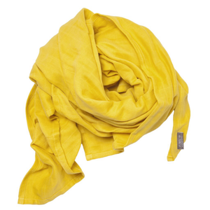 Organic Cotton Swaddle in Honey Yellow (120 x 120cm)