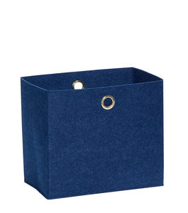 Hubsch Large Blue Square Felt Storage Basket