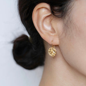 Flower Coin Earrings
