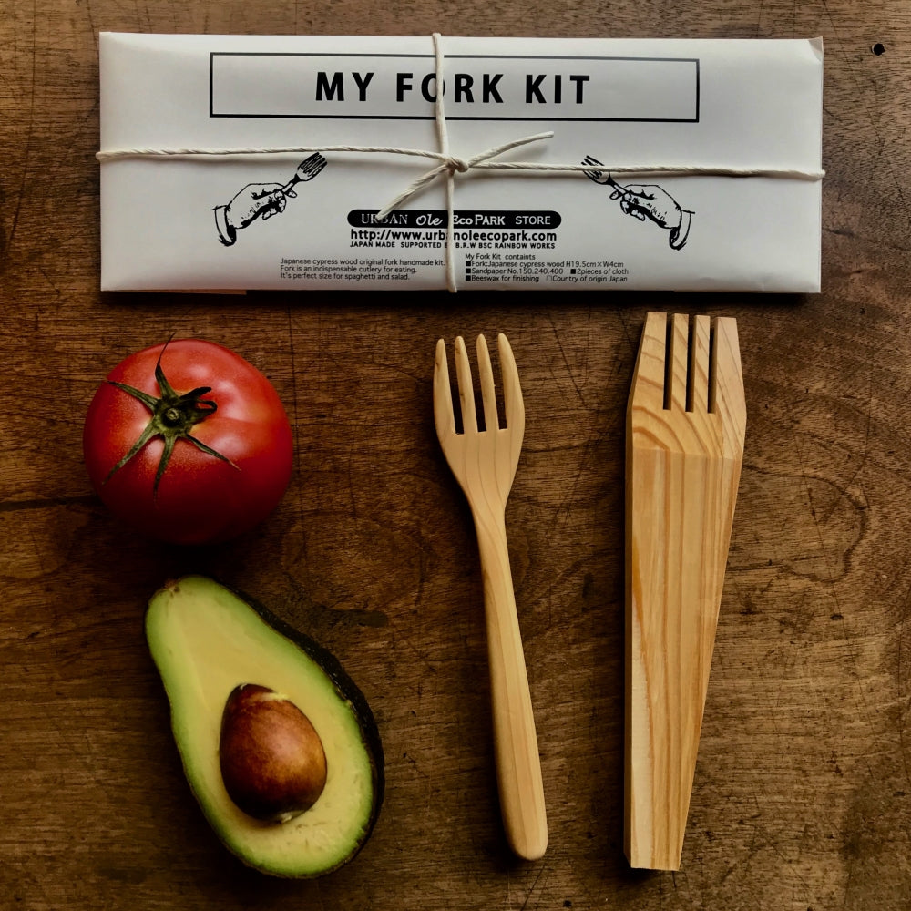 Japanese Whittling DYI Kit - Make My Own Fork Kit
