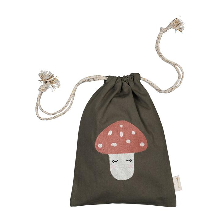 Mushroom Embroidered Gift Bag
