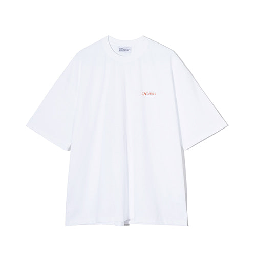 Chubby Logo Gradation Tee in White