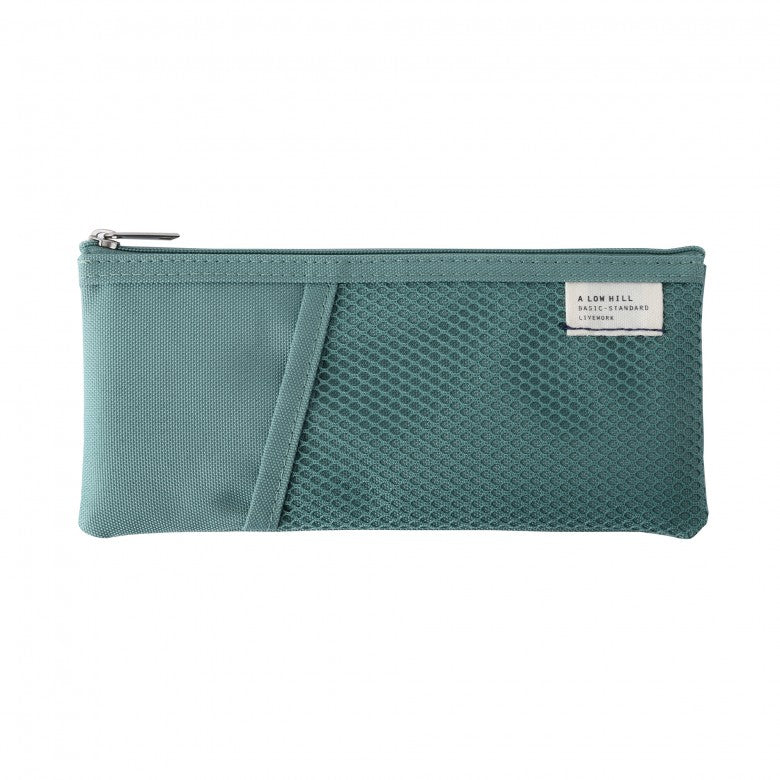 Mesh Pocket Pencil Pouch in Mint Green