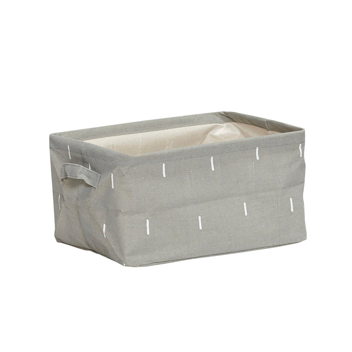 Grey Square Storage Basket with Handles in Large Size