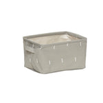 Grey Square Storage Basket with Handles in Medium Size