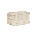 Grids Print Square Storage Basket with Handles in Medium Size
