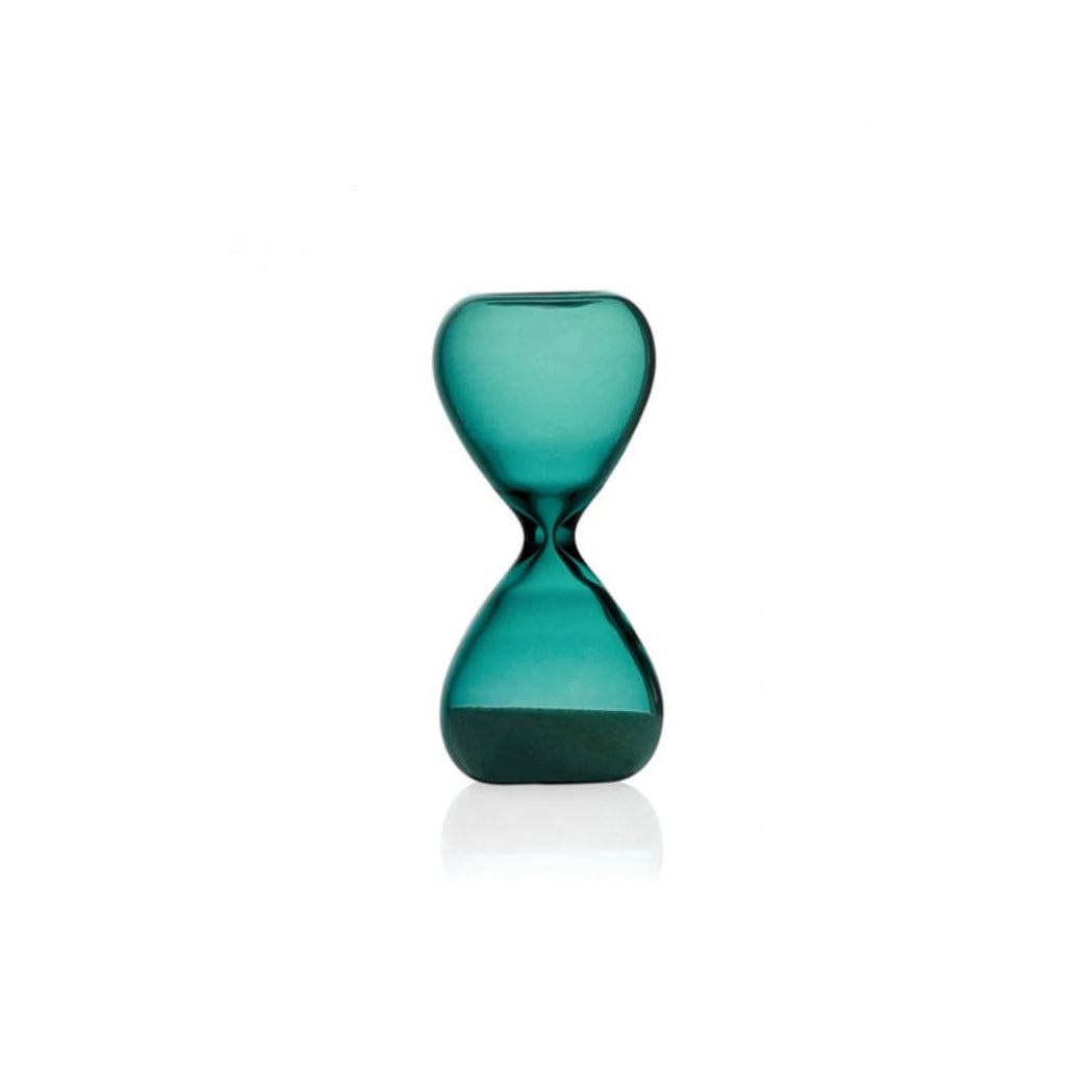 Sand Glass in Turquoise with White Sand - 3 mins