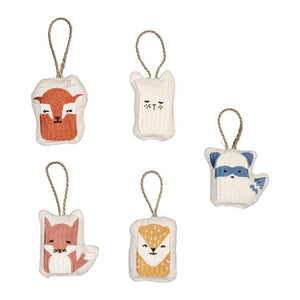 Hanging Ornaments Set of 5 - Animals