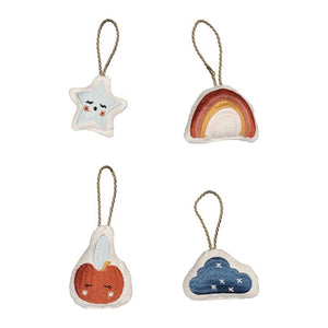 Hanging Ornaments Set of 4 - Rainbow