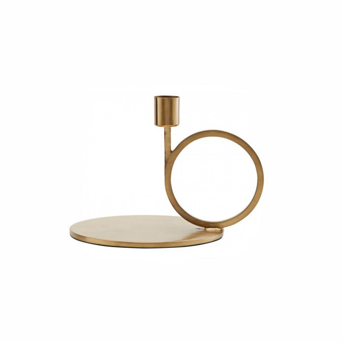 Small Cirque Candle Holder in Brass