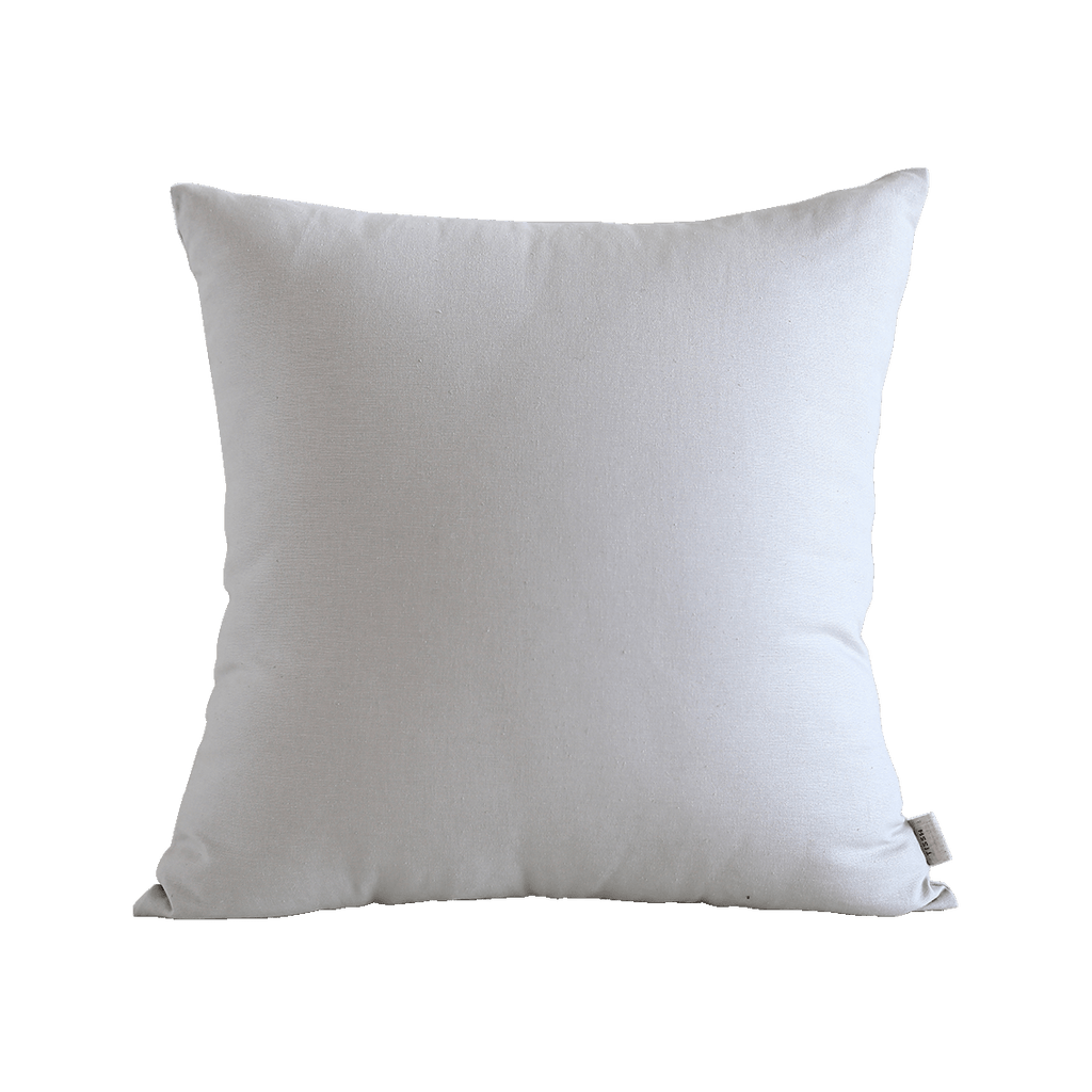 TISSH Mono Cotton Cushion in Pale Grey