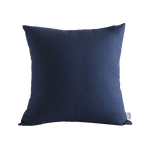 TISSH Mono Cotton Cushion in Dark Navy