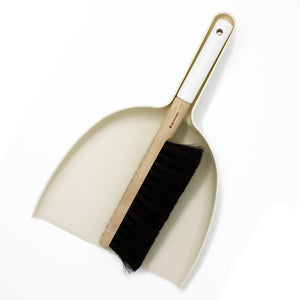Broom and Dustpan Set in White