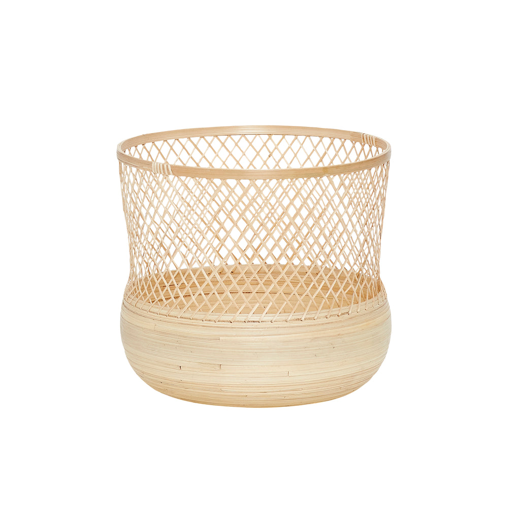 Round Bamboo Baskets in Large