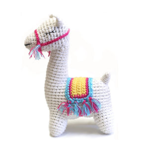 Hand Crocheted Rattle - Lamy the Lama