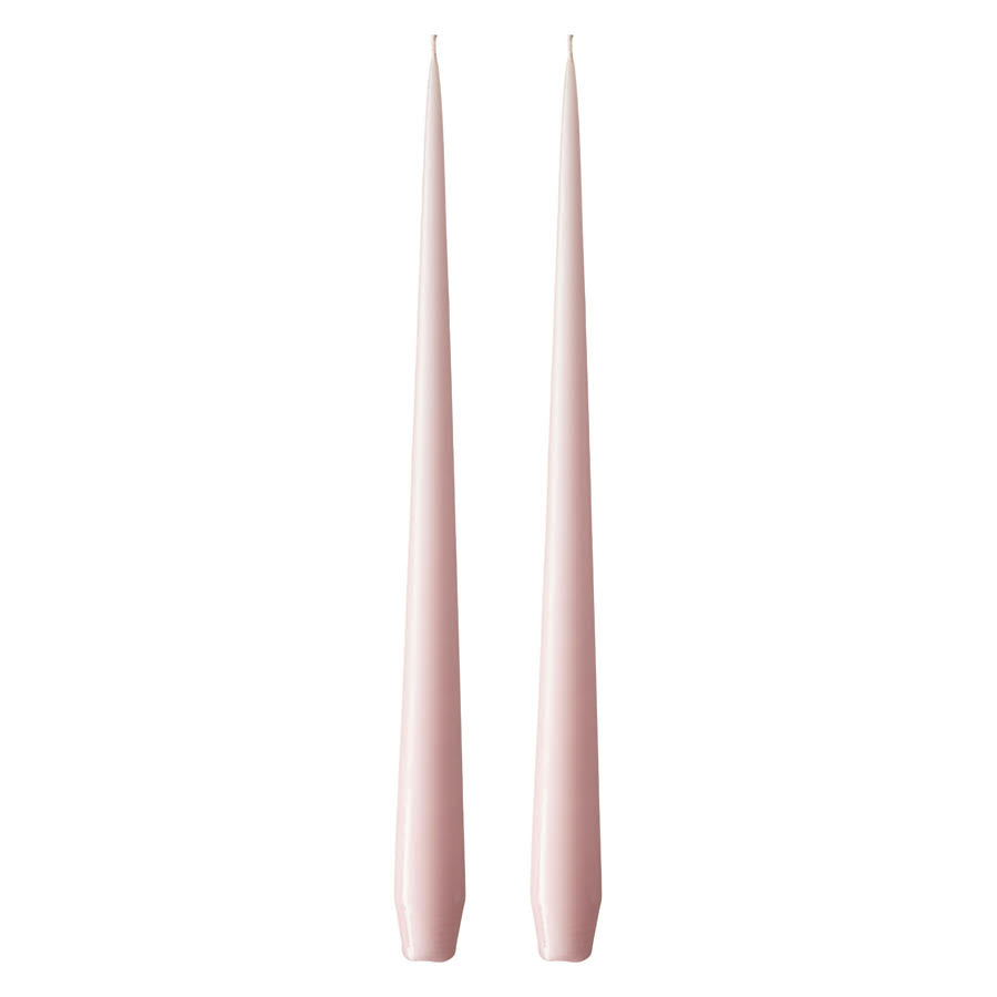 Set of Two Matte Tapered Candles in Pale Pink(Colour No. 38) - 42cm Long