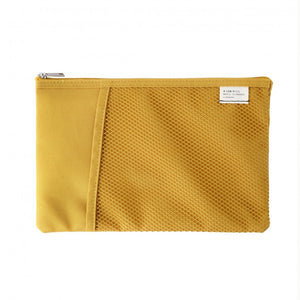 Mesh Pocket Daily Pouch in Mustard Yellow